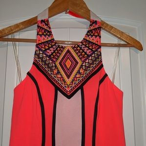 Beautiful Gianni Bini Halter Dress w Embroidery